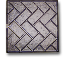 Herringbone Tile Mould - Wetcast ABS Mould - General Paving